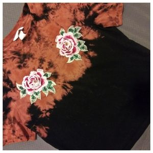 Hand Bleach-Dyed H&M Free The Petals Tee S